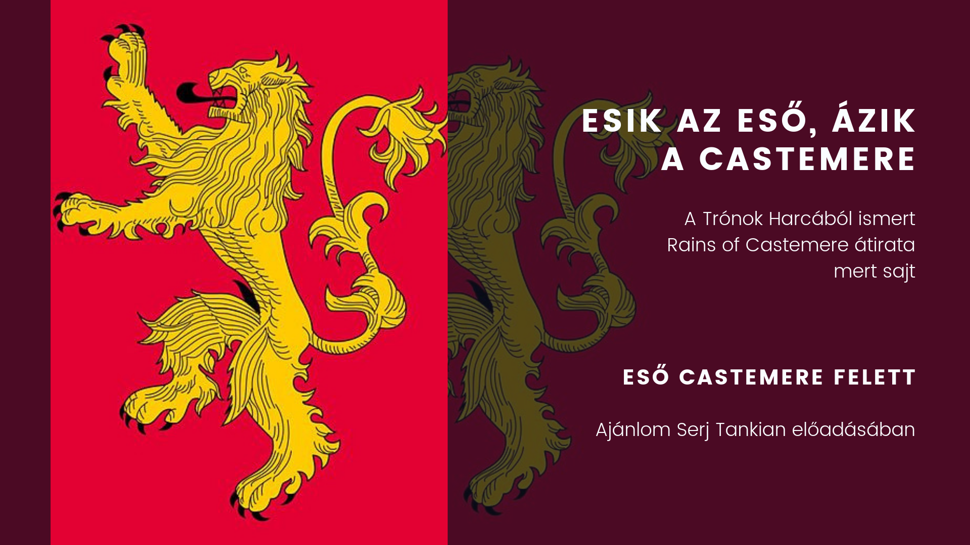 Castamere-i esők magyarul
