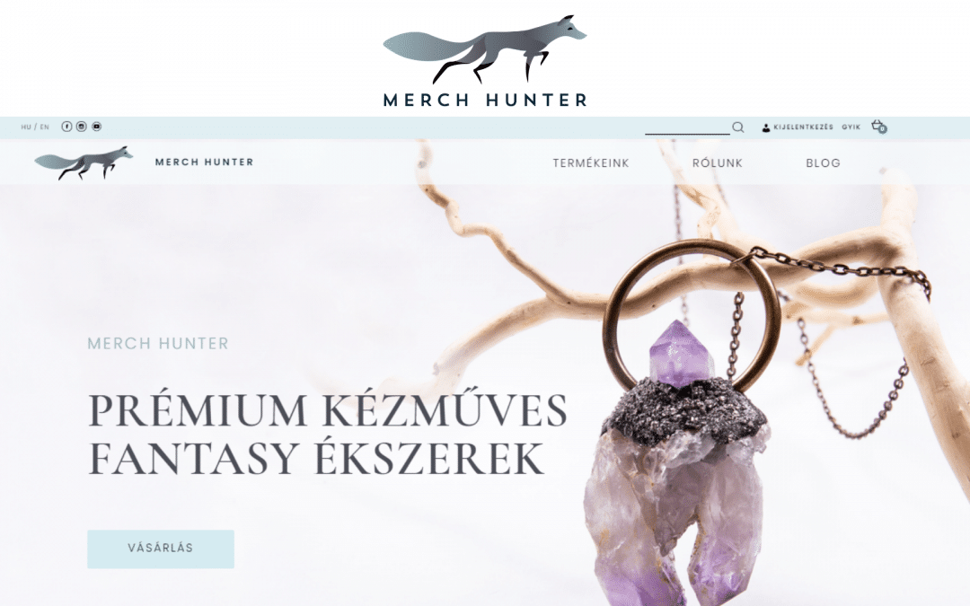 Merch Hunter kézműves fantasy ékszer webshop